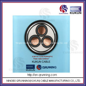 6.35/11kv Cu/XLPE/Swa/PVC (or PE) Power Cable