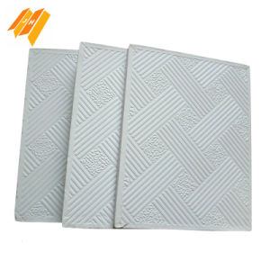 Competitive Price PVC Laminated Gypsum False Ceiling Tiles (603*603*7mm)