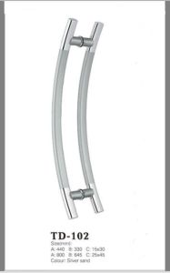 Stainless Steel Glass Door Handle (DG-102A) pictures & photos