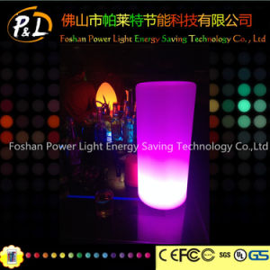 Colorful Plastic Decorative Wireless Pillar LED Lamp pictures & photos
