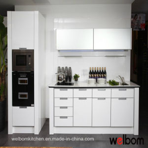 Welbom High Gloss White Customized Baked-Paint Kitchen Cabinet
