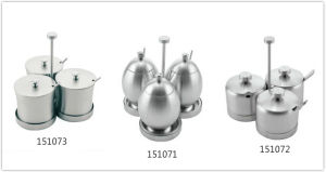 3-PCS Stainless Steel Kitchen Condiment Bowl Set with Spoon pictures & photos
