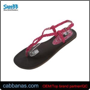 452e9261de84cb China Women Pink Weave Strap Summer Shoes Flip Flop Sandals - China ...