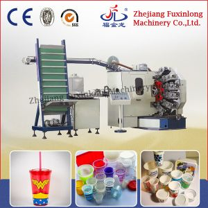 Six Color Curved Surface Offset Plastic Cup Printing Machine pictures & photos