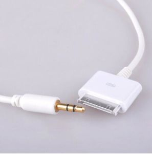 sports shoes 8af66 39837 [Sq-12] Aux-in Cable for Apple iPhone iPod 30 Pin Male Convert to Stereo  3.5mm Audio Cable