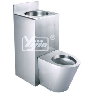 Hand Made Stainless Steel T-304 Institutional Toilet Pan with Basin