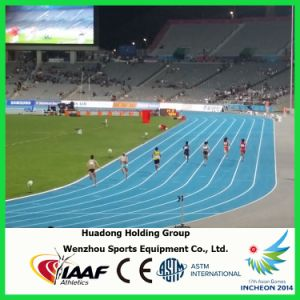 Iaaf Professional Waterproof Synthetic Rubber Running Track Material pictures & photos