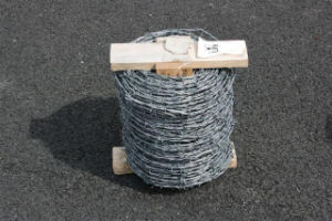 ISO9001 Factory Galvanized /PVC Coated Barbed Wire Fence pictures & photos