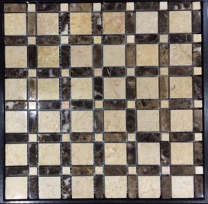 Building Material 300*300mm Grey Anti Slip Decoration Material Home Mosaic Tile (FYSC341)