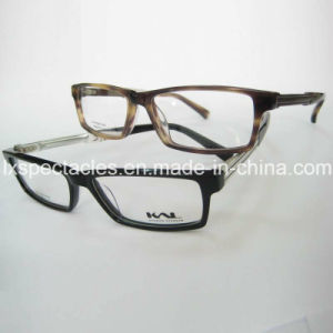 Fashionable Acetate Optical Eyeglasses Frame with Aluminium Temples pictures & photos