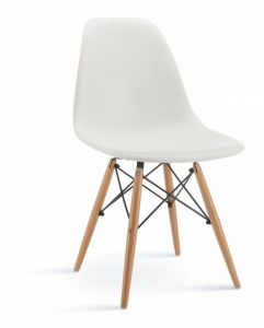 White Color Side Chair with Wood Leg pictures & photos