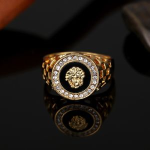 High Quality Cubic Zirconia Hip Hop Medusa Head Man Ring
