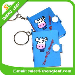 Promotional Gifts Cute Animal Rubber Notebook Key Chain