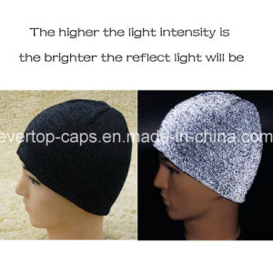 e749b6d029a6 Super Bright Reflective Running Hat, High Visibility Reflective Beanie Cap  for Man and Women