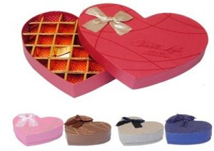 Chocolate Packing Paper Box, Heart-Shaped Box for Velentine′s Day