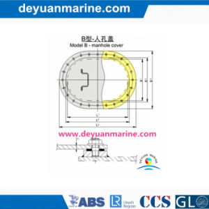 C Type Marine Manhole Cover pictures & photos
