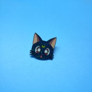 Customized Glitter Holiday Metal Cat Lapel Pin Badge Promotion Gift
