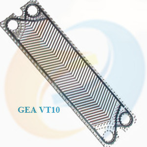 (316L, 304, Ti, Smo) Plates and (NBR, EPDM, Viton) Gaskets for Gasket Plate Heat Exchanger Gea Vt10 Plate
