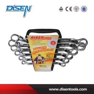 ANSI 6PS (6-17) Set Matt Chrome Plated Box End Wrench