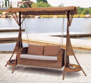 China Garden Hanging Sofa Swing Two Seat F016