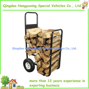 Firewood Cart with Durable Wheels to Easily Transport Wood