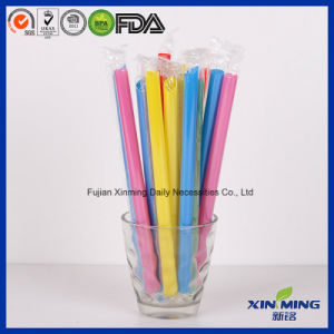 Film Wrapped Jumbo Colors Straight Drinking Straw pictures & photos