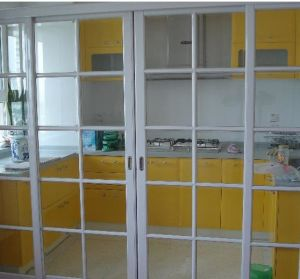 Aluminium+Glass Interior Kitchen Door