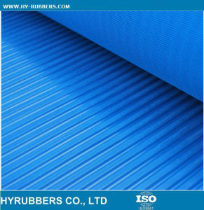 Green Anti-Slip Wide & Fine Ribbed Rubber Sheet pictures & photos