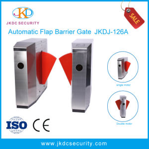 RFID Card / Fingerprint Reader High Protection Grade IP54 Flap Barrier pictures & photos