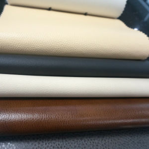 China Black Embossed Auto Seat Vinyl Upholstery Fabric Leather
