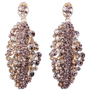 Gold Plated Gemstone Latest Model Fashion Earrings Jewelry For Bride