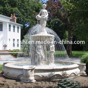Granite Carved Outdoor Garden Water Fountains with Angel Sculpture pictures & photos