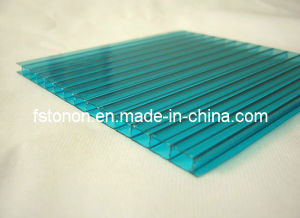 Lake-Blue Transparent Twinwall Polycarbonate Sun Sheet (Tonon)