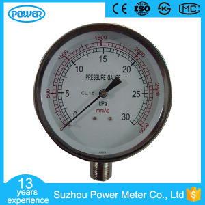 Stainless Steel 30kpa 80mm Capsule Low Pressure Gauge Kpa pictures & photos