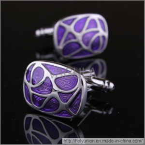 VAGULA Fashion Shirt Purple Cufflinks (Hlk31612) pictures & photos
