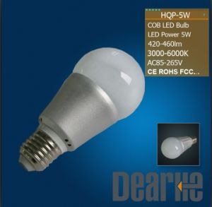 High Lumen 3000k/4500k/6000k LED Bulb (5W COB)