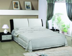 Modern Leather Soft Bed, Simple Design pictures & photos