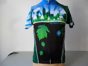 100% Polyester Men′s Digital Sublimation Print Cycling Wear