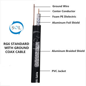 China 75ohm UL Certified RG6 Coaxial Cable with Ground Wire ...