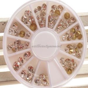 Crystals Rhinestone Nails Beauty Wheel Manicure Decoration (D77)