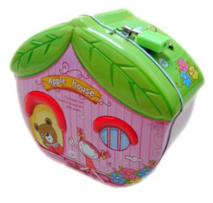 Apple Tree House Shape Tin Coin Banks pictures & photos