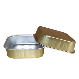 Gold Inflight Aluminium Foil Food Container pictures & photos