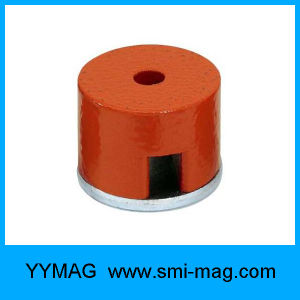 Red Paint AlNiCo D27X25mm Deep Pot Magnet pictures & photos