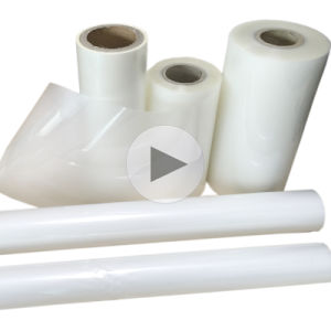 China High Gloss Clear Transparent Roll Polyester Thermal