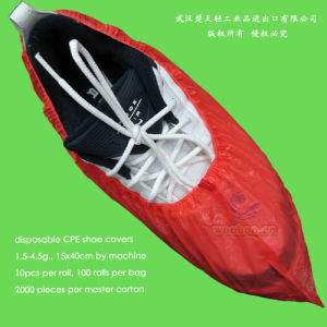Disposable CPE Shoe Cover pictures & photos