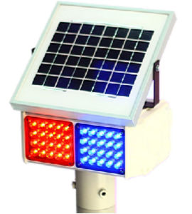 Solar Energy LED Traffic Flashing Light Signal (TR003)