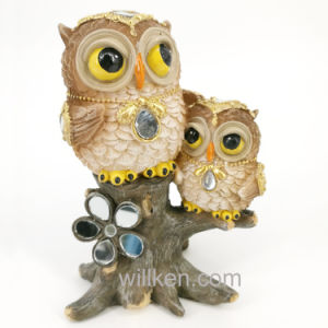 Bright Colored Owl Resin Home/Garden Decor Sculptures