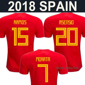 39f4c76e0da China 2018 World Cup Spain Home Soccer Jersey Shirt for Adult Women ...