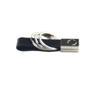 Factory Price Custom Metal Rings Black Blank Keychain