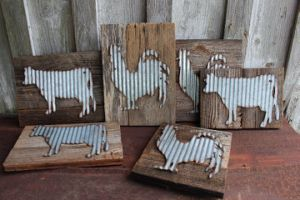 Galvanized Metal Animal Wall Decor